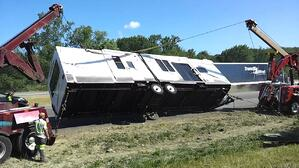 RV-Trailer-Rolled-Over